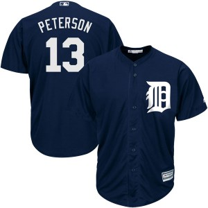 Youth Majestic Detroit Tigers Dustin Peterson Authentic Navy Cool Base Alternate Jersey